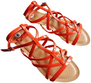 Guess Strappy Flats orange Sandals