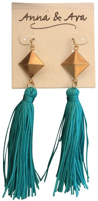Item - Turquoise Gold Earrings
