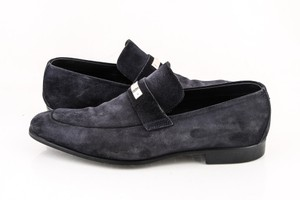Gucci * Dark Blue Suede Loafers Shoes