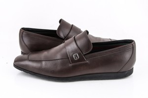 Gucci * Brown Leather Loafers Shoes