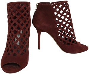 Jimmy Choo Cage Burgundy Sandals