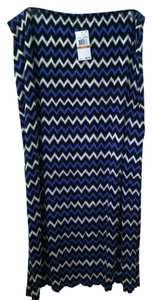 Michael Kors Maxi Skirt Blue White