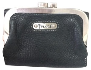 Fossil Fossil Black real leather wallet