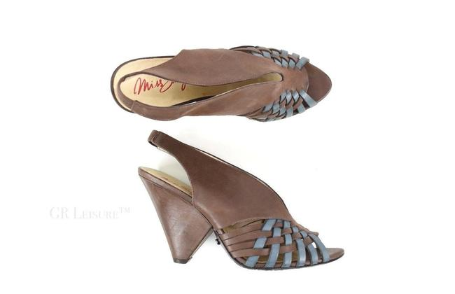 Item - Brown/Blue Women's Ms Caila and Slingback Heel Wedges Size US 8.5 Regular (M, B)