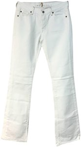 7 For All Mankind Jeans Boot Cut Pants White