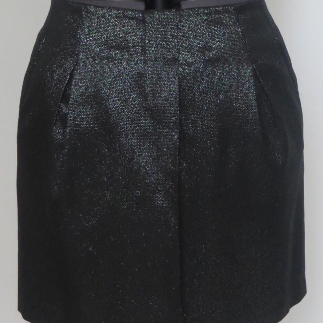 Item - Black and Silver Metallic Skirt Size 4 (S, 27)