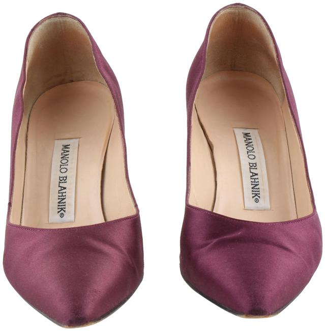 Item - Purple Satin Slip On Low Heels Formal Shoes Size US 8 Regular (M, B)