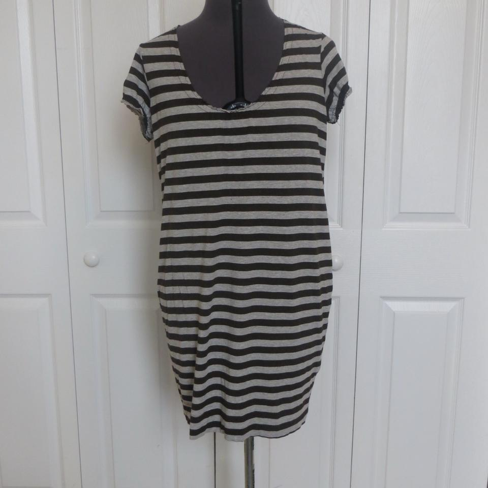 876dff6897e0 Vince Brown and Gray T-shirt Short Casual Dress Size 8 (M) - Tradesy