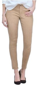 AG Adriano Goldschmied Leather Pants Suede Skinny Jeans-Coated