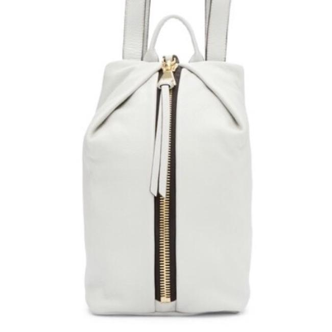 Item - Tamitha Dove Grey Leather Backpack