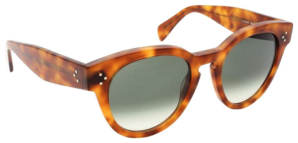 dfd8057b111e Céline Light Brown New Cl 41049 S Thin Preppy Oversized Keyhole Sunglasses