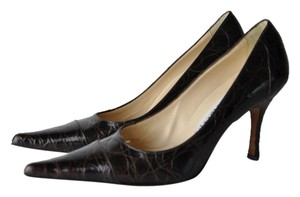 Domenico Vaca Vacca Alligator Heels Size Black Pumps