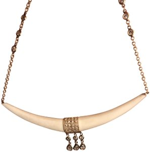 Jacquie Aiche Jacquie Aiche Horn and Diamonds Necklace with tear drops