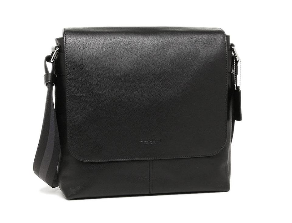 Coach Charles Small Crossgrain F72220) Black Leather Messenger Bag ... 45ff4fbe6d