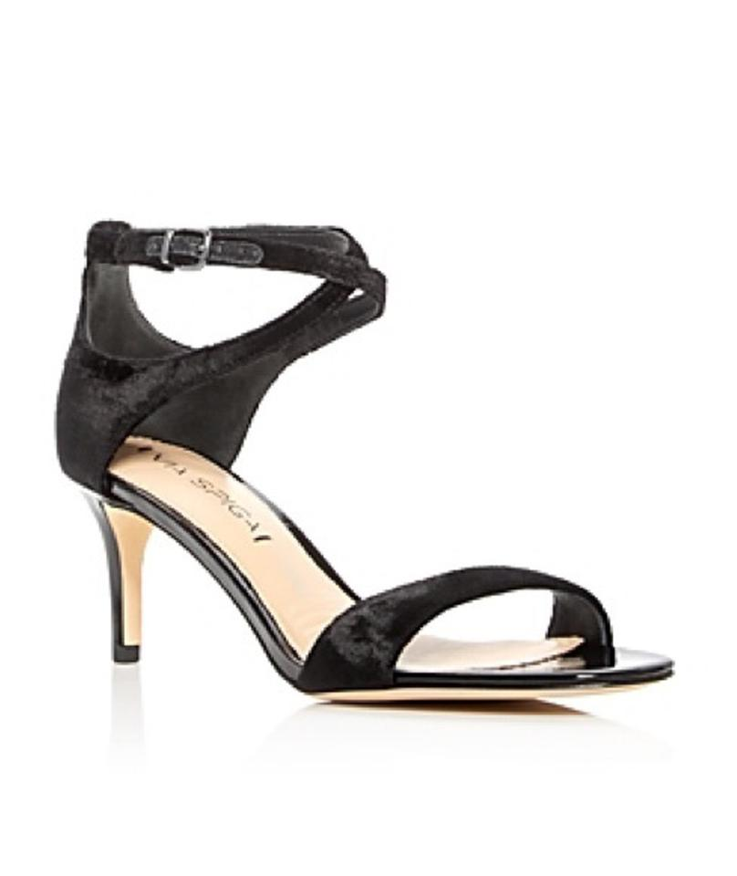 fd8f67e9507 Via Spiga Black Msrp Women s Leesa Criss Cross Ankle Strap Sandals ...