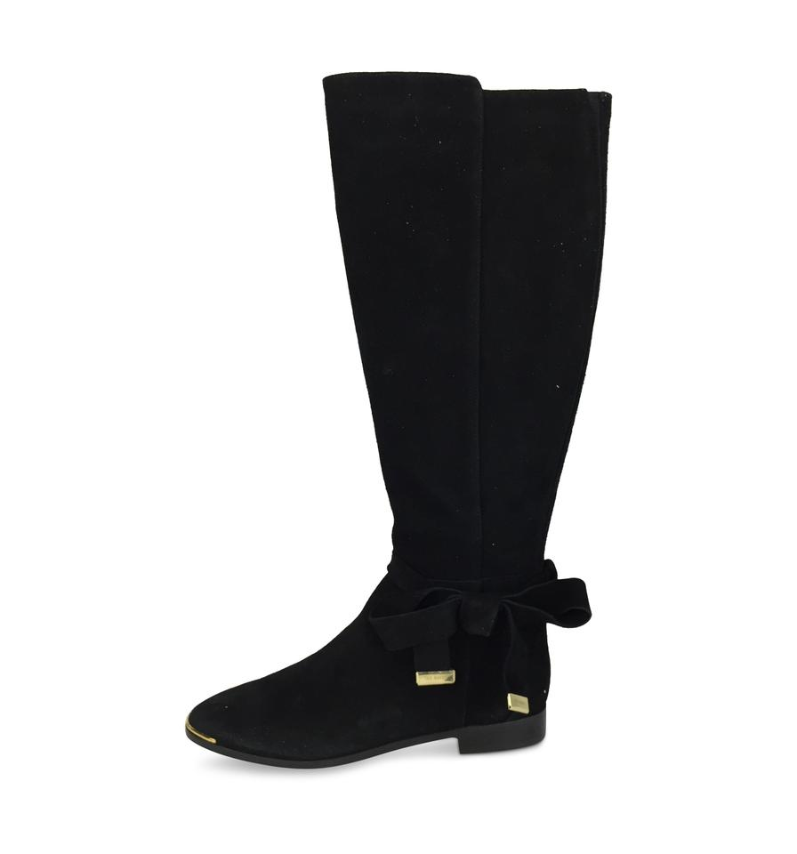 6482686b5 Ted Baker Black Alrami Suede Bow Knee-high Boots Booties. Size  EU 38 ...