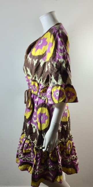 Milly of New York short dress Purple Brown Yellow Ikat on Tradesy Image 1