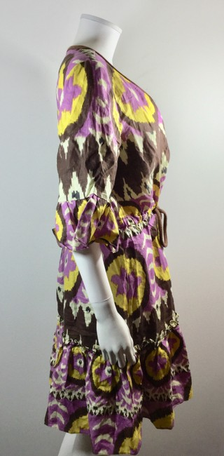 Milly of New York short dress Purple Brown Yellow Ikat on Tradesy Image 2