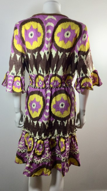 Milly of New York short dress Purple Brown Yellow Ikat on Tradesy Image 3