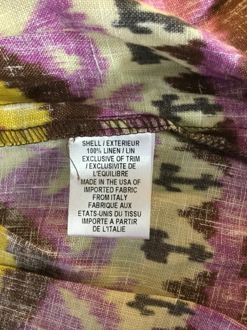 Milly of New York short dress Purple Brown Yellow Ikat on Tradesy Image 5
