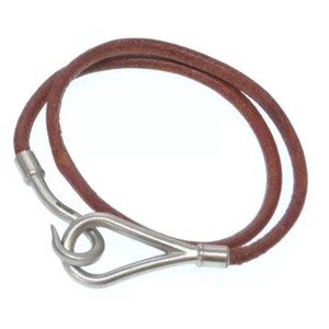 Hermès Hermès Hook Choker/Wrap Bracelet - Brown and Silver