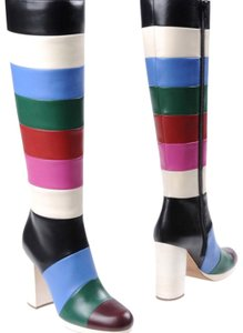 Valentino black white blue red pink green multi Boots