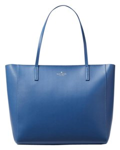 Kate Spade Classic Leather Tote in blue