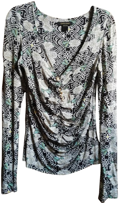 Item - Multiple Made In Italy Viscose Print with Snake Pin Tunic Size 10 (M)