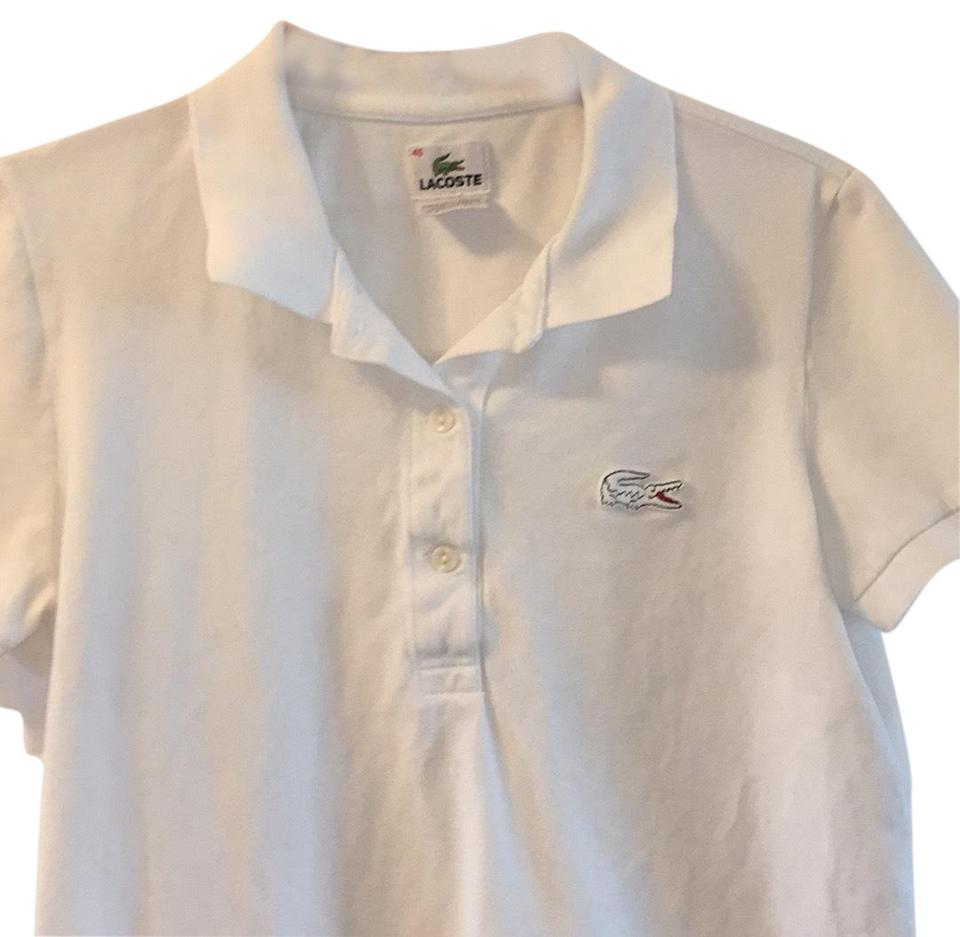 3d0922d10 Lacoste White Polo Tee Shirt Size 10 (M) - Tradesy