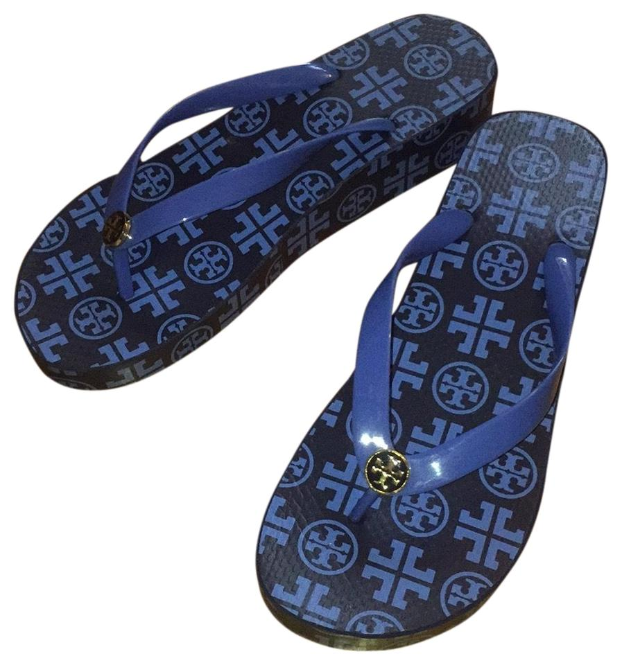 30ac06a86 Tory Burch Navy Traveler Flip Flop Sandals Size US 10 Regular (M, B ...