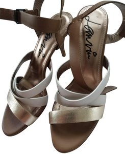 Lanvin White tan golden Sandals