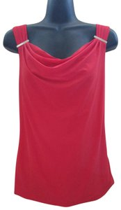White House | Black Market Cowl Neck Spring Summer Formal Stretch Top Red