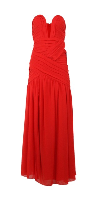 Item - Red Strapless Illusion Sweetheart Long Formal Dress Size 8 (M)