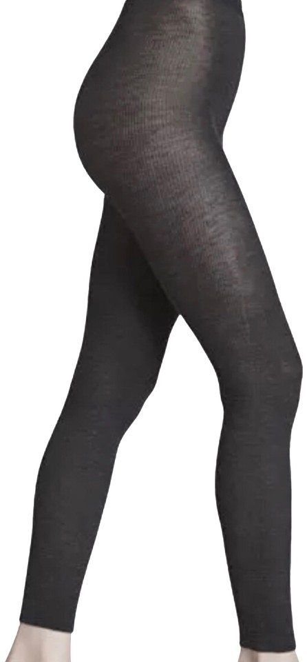 bd36663cd50 Wolford Gray Wool Fine Ribbed Footless Tights Leggings Hosiery - Tradesy