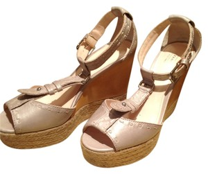 Coach Metallic Pale Gold Wedges