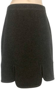 Givenchy Couture Slits Fitted Concealed Zipper Soft Skirt BROWN