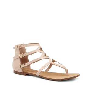 Julianne Hough for Sole Society Gladiator Leather Multiple Buckles Pink Sandals