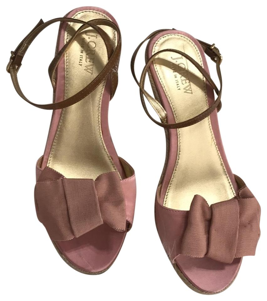 36a8a1f7cb1 J.Crew Pink Espadrille Wedges Sandals. Size  US 8 Regular (M ...