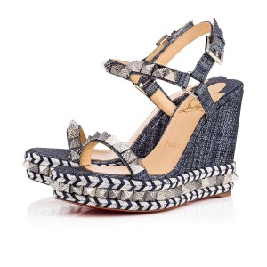 Christian Louboutin Denim Wedges