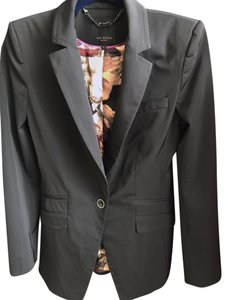 Ted Baker Fitted Three Button Tailored Black/Grey Blazer