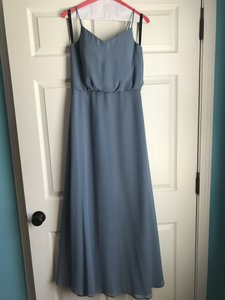 Bill Levkoff Slate Blue Traditional Bridesmaid/Mob Dress Size 6 (S)