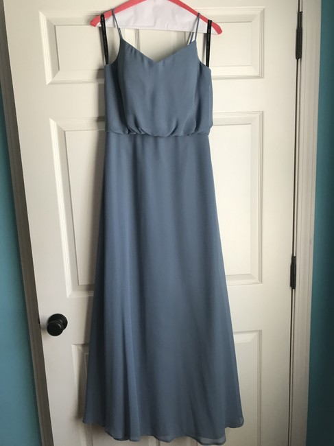 Item - Slate Blue Traditional Bridesmaid/Mob Dress Size 6 (S)