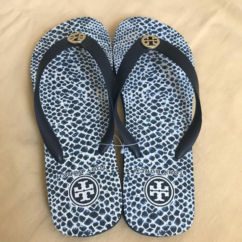 f55770d8b5a5e Tory Burch White -ikat Diamond A Print Thin Flip Flops Sandals Size US 7  Regular (M, B)