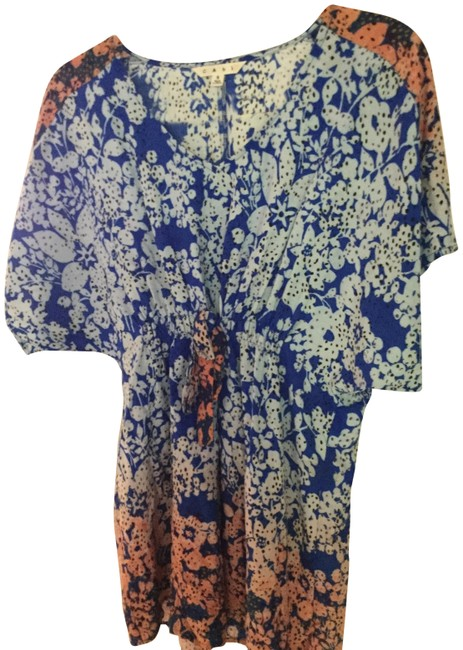 Item - Blue with Orange Ombre Hippie Style# 891 Boho Tunic Size 4 (S)
