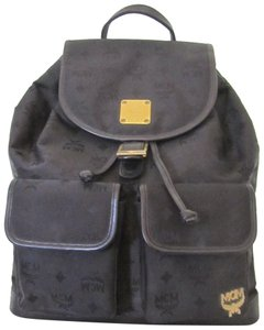 MCM Vintage Rucksack Fabric And Leather Backpack