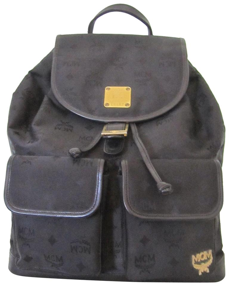 5fac6dc856ec MCM Michael Cromer Munich Vintage Black Fabric and Leather Backpack ...