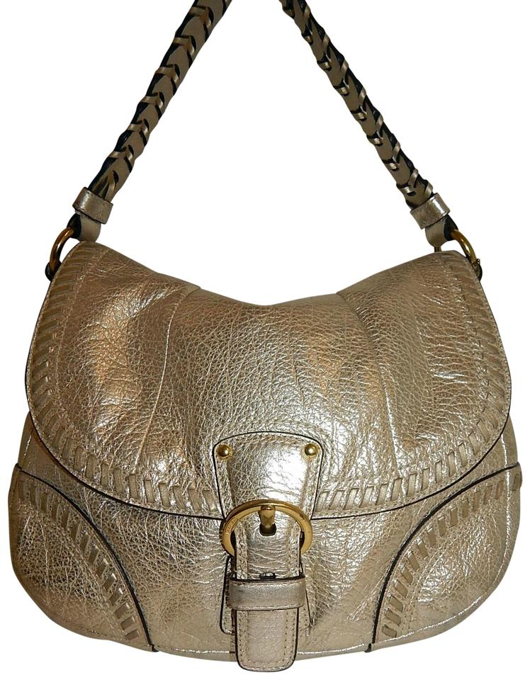 478ca46861d5 Coach Whipstitch Shoulder Gold Leather Hobo Bag - Tradesy