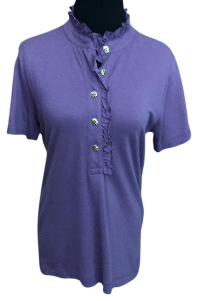 be95ccae890a Tory Burch Iris New with Tag Lidia Polo Button-down Top Size 8 (M ...