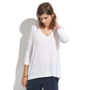 Madewell Longsleeve Summer Free People Theory T Shirt white