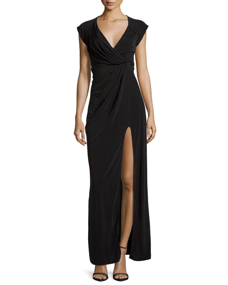 The Jetset Diaries Black Novella Cap Sleeve Ruched Long Casual Maxi